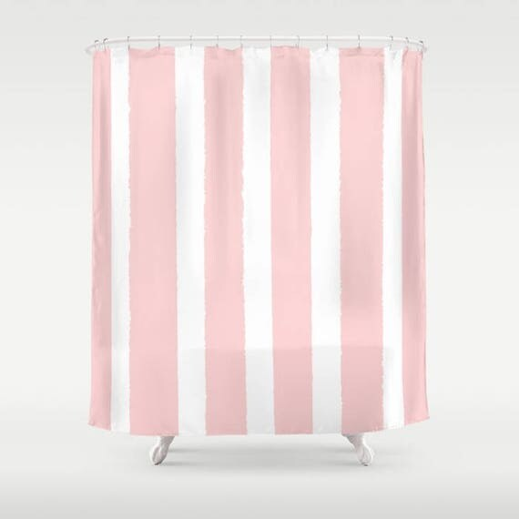 Blush Pink Shower Curtain - Striped Shower Curtain - Modern Shower Curtain - Shower Curtain - Striped Shower Curtain - Rose Pink Curtain
