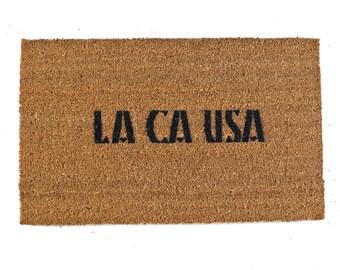 LA CA USA Los Angeles California doormat