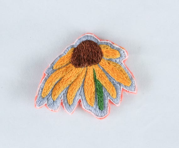 Hand Embroidered Flower Patch