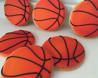 Basketball Cookies - 1 dozen