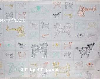 24 inch panel Critters Galore   Savannah  by Gingiber for Moda Fabrics 48221-11