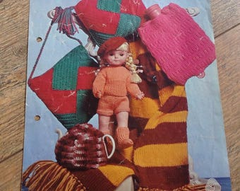 Vintage Knitting Pattern Bazaar Items, Vintage Collection of Knitted patterns