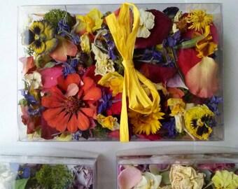 Wedding Confetti, Bulk Dry Flowers, Flower Girl, Biodegradable, Table Decor, Dry Petals, Centerpieces, Dry Wildflowers, 3 Wedding Favors