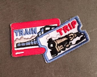 Train Trip Merit Badge Train Ride Steam Engine Train Ticket Traveling Trains Planes And Automobiles Bullet Train Adult Scout Patch