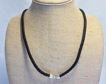 Black Horse Hair Braided Horsehair Necklace - 6MM Round Braid