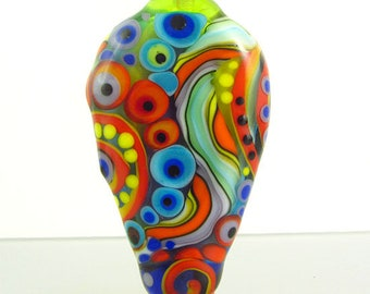 Specific Dot Art, lampwork focal bead. it's a original Michou P. Anderson Design
