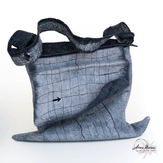 Messenger Bag Fiber Art OOAK
