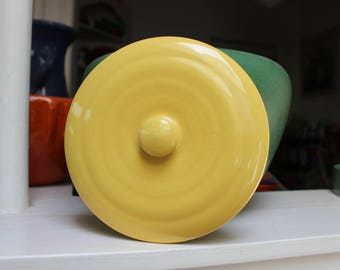Bauer Pottery Yellow Lid Only Replacement La Linda Kitchen ware California VINTAGE by Plantdreaming