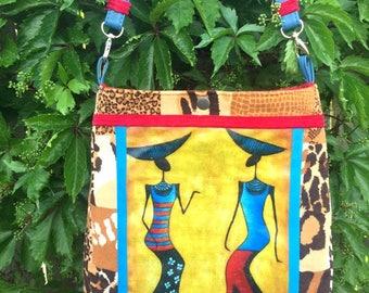 Shoulder Bag, Cross-body Bag, Tote Bag, Summer Handbag, AFRICA COLLECTION, Tote