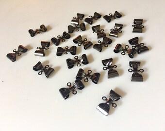 Supplies - Black Metal Bow Connectors - Quantity 23