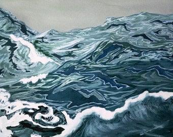 Ocean Vortex Giclée Print