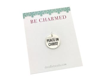 2018 LDS youth theme charms, Peace in Christ charm, LDS Young Women theme 2018, girls camp, New Beginnings, YW birthday Gifts, mutual theme