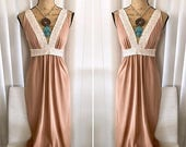 40% OFF Christmas in July Vintage Egyptian Revival Long Negligee from the 60's/70's