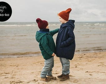 NAVY WATERPROOF PARKA for kids
