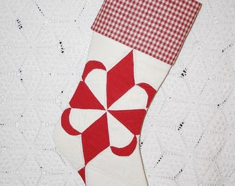 """Star Quilted Stocking 
