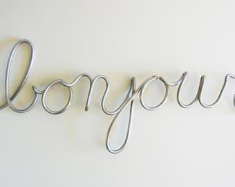 "Big clearance SALE, ""bonjour"" word sculpture"