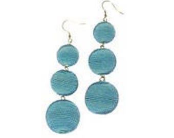 Turquoise 3 ball Bon Bon style earrings