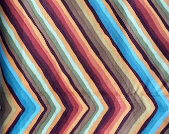 Kaffe Fassett OOP, rare, Chevron Stripe, ocher, by the half yard, yardage available