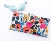 Women's Wallet-Floral wallet-Linen wallet-Wallet for women-Vegan wallet-Beautiful women's wallet-Women's gift-Gift for Woman