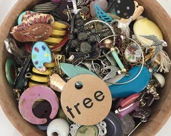 AWESOME!!!!! junk lot, repurposed lot, shabby jewelry lot, destash jewelry lot, costume jewelry lot, junk drawer, steampunk rhinestone lot