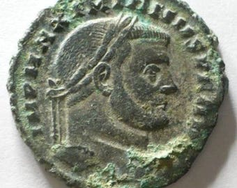 ANCIENT ROMAN COIN rare Grade Ancient Roman of Maximianus original bronze Large Follis Coin