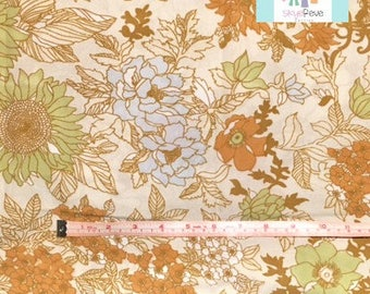 Vintage Pillowcase with Brown Florals