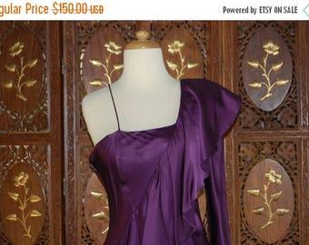 ON SALE DY Anne Purple Silk Evening Gown Sz 10
