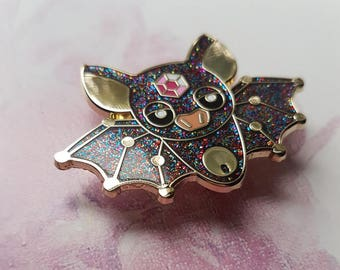 Glitter Bat Pin - BIG Hard Enamel Pin