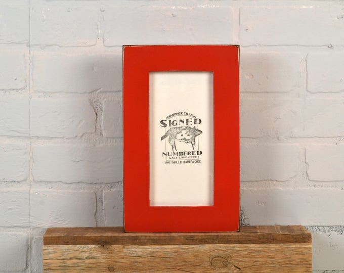 """4x8 Picture Frame for 4x8"""" Print or 2x6"""" Photo Booth Strip in 1.5 Standard Style with Vintage Red Finish - IN STOCK - Same Day Shipping"""