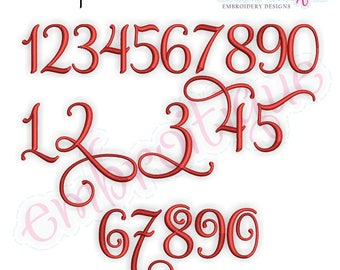 Buttercup Monogram Set Numbers - Small- BX files included -Instant Download -Digital Machine Embroidery Design