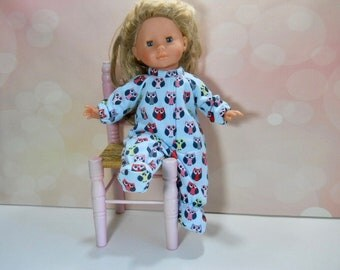 """14 inch toddler doll clothes, 14 inch toddler doll sleeperFits dolls like Mommy, Corollle 14"""" toddler doll, My Life, 14 Inch Doll, 03-2838"""