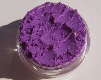 Deep Royal Purple Vegan Mineral Eyeshadow    Loose Powder   Cruelty Free   Dark Deep Blue Shimmer   Makeup Eye Shadow -Gloves Off!