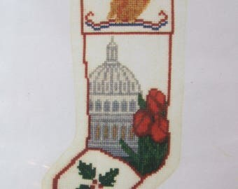 Springtime at the Capitol Washington DC Stocking Ornament Posy Counted Cross Stitch Kit