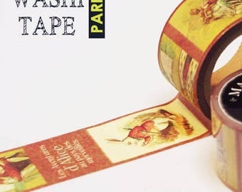 Antique masking tape - Alice in wonderland - 30mmW - Washi