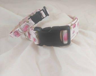Valentine's Day Collar,Valentines Dog Collar,Valentines Cat Collar,Breakaway Cat Collar,Les Fleurs Collar,Collier de chien,collar de perro