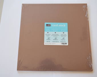 CLOSE TO COCOA Stampin' Up! Cardstock, 12x12, 20 sheets