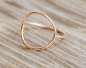 Rose Gold Open Circle Ring