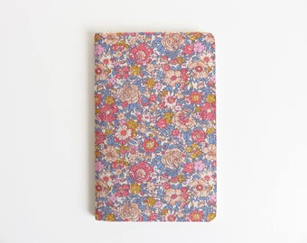 Liberty Lawn 'Amelie D' Fabric Cover Moleskine Cahier Pocket Notebook