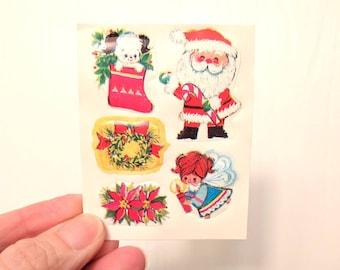 Vintage Christmas Gummed Seal Stickers / Set of 25