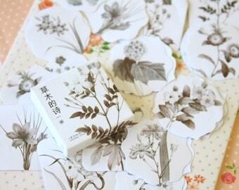 Elegant Flowers Mo-Card cartoon shapes stickers