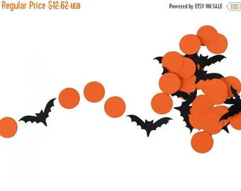 SummerSale Orange and Black Halloween Bats Garland for Halloween Parties, Fall Classroom Decor, and More!