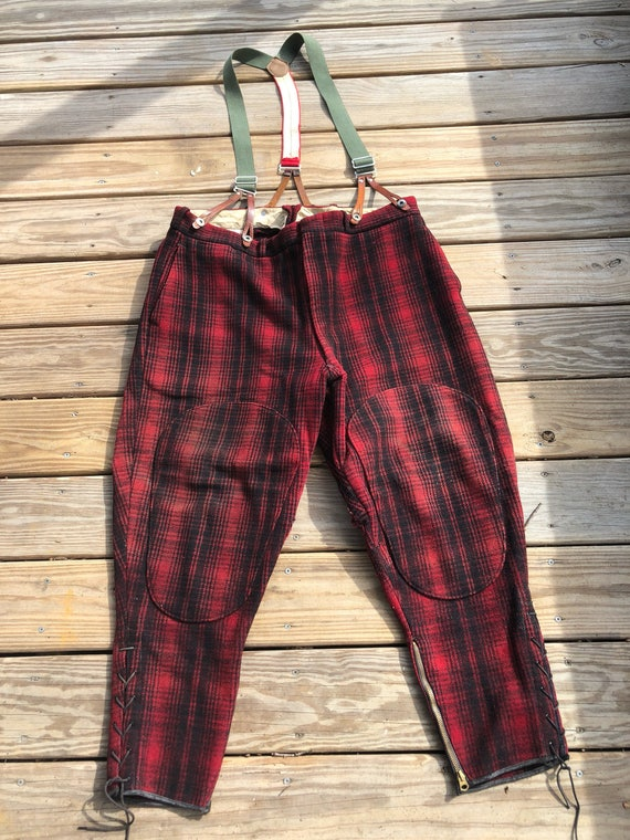 1950s Woolrich hunting pants with original suspenders