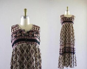 ON SALE 1970's nepalese cotton dress
