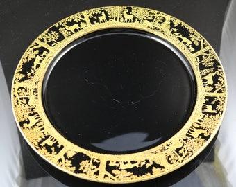 Tiffin Deerwood, Ebony Gold Encrusted,  10.5 Inch Plate