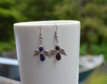 Beaded Angel Earrings