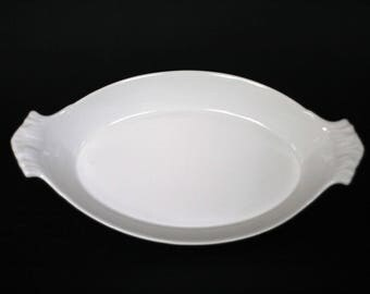vintage apilco au gratin dish #12 made in france