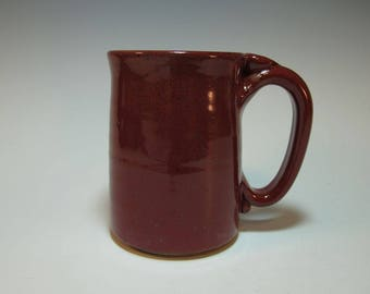 Brick Red Coffee Mug, Beer Stein - Holds 14 ounces - In Stock