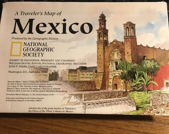 Mexico map circa 1994 National Geographic