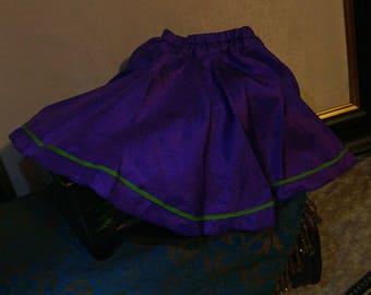 Bjd SD Purple and Lime skirt