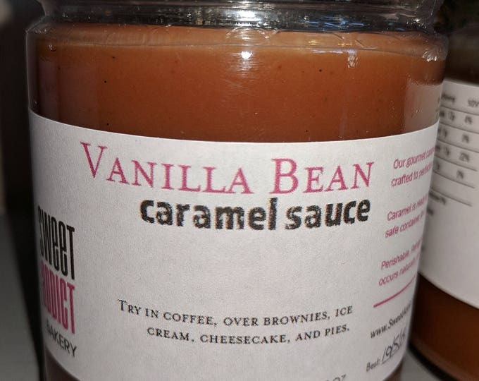 VANILLA Bean Caramel Sauce - for ice cream, COOKIES, waffles, popcorn, cheesecake, COFFEE, pies, gift for Christmas, hostess, icecreamsundae